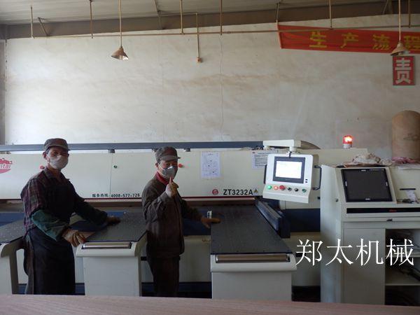 郑太机械与酒泉富康家具合作